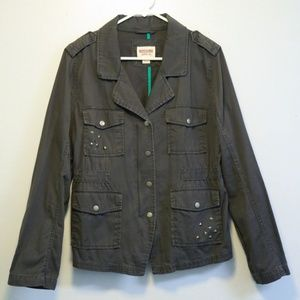 Mossimo Supply Co. Olive Studded Army Jacket